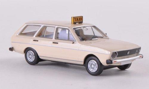 VW Passat L Variant, Taxi , Modellauto, Fertigmodell, Brekina Drummer 1:87 by Brekina