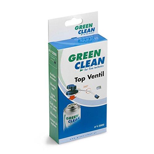 GREEN CLEAN V-2000 Top Ventil mit TurboDüse, gekröpftes Rohr 12 cm für Air und Vaccum Power blau