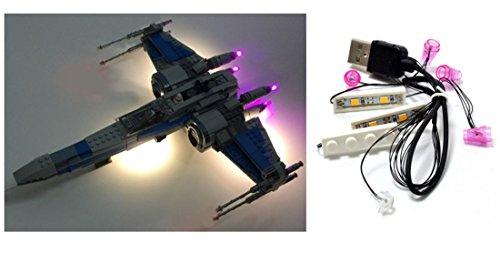 Kit d'éclairage LED Pour lego Star Wars X-Wing 75102, 75149, 05029 et 05004 Combattant d'aile X Kit d'éclairage Lego Led lumières lego Lumières lego Blocs de construction Lego Compatible