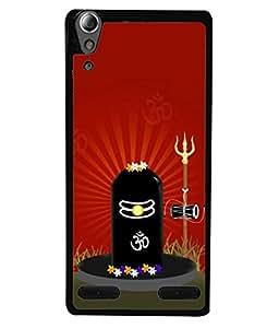 Fuson Designer Back Case Cover for Lenovo A6000 Plus :: Lenovo A6000+ :: Lenovo A6000 (Bhole Nath Damru Trishul Aum )