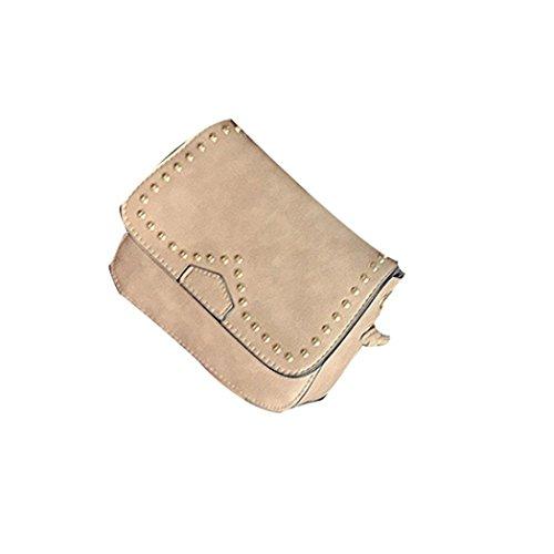 Donne solide Fashion PU Borsa in pelle borsetta Tote signore borsa di Kangrunmy Rosa