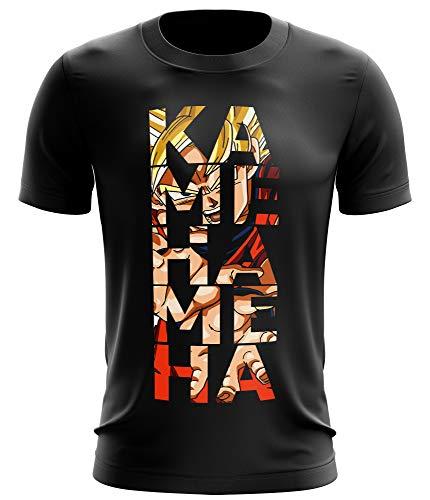 Stylotex Fitness T-Shirt Herren Sport Shirt Kamehameha Gym Tshirts für Performance beim Training | Männer Kurzarm | Funktionelle Sport Bekleidung, Größe:M, Farbe:schwarz (Tank Ball Top)
