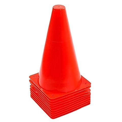 Training Cones, iTECHOR 10Pcs 9 Inch Multipurpose Traffic Cones Marker