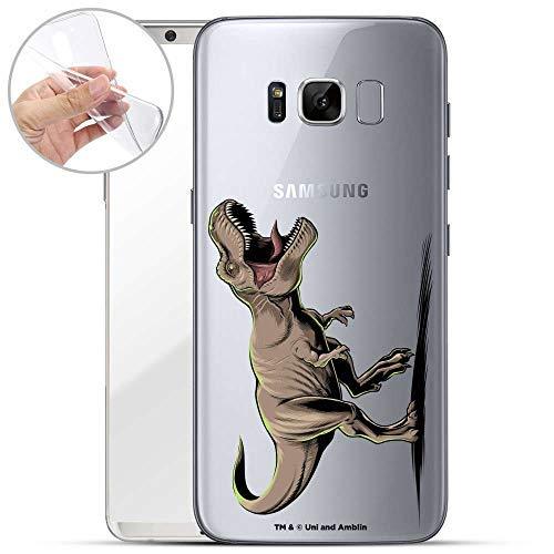 Finoo Hülle für Samsung Galaxy S8 - Handyhülle mit Motiv und Optimalen Schutz TPU Silikon Tasche Case Cover Schutzhülle - T-Rex auf der Jagd