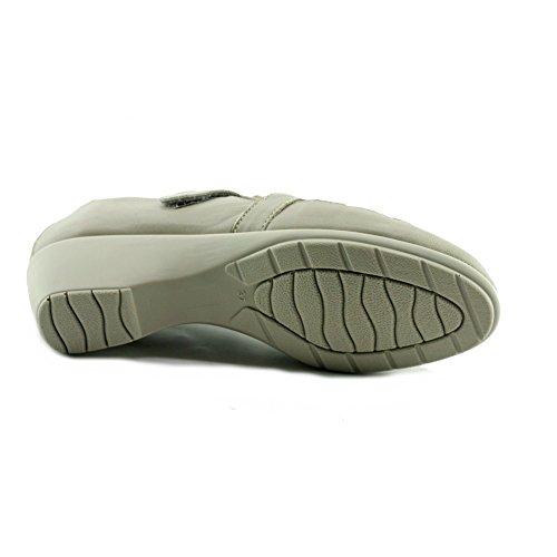 Nabab - Mocassins Beige Confortable Sans gêne velcro - Aerobics C-Beige