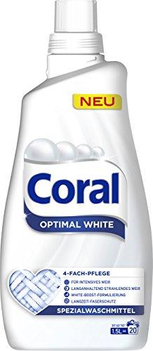 Coral flüssig Feinwaschmittel Optimal White 40 WL 2er Pack (2 x 20 WL)