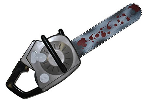 erdbeerclown - Halloween Kostüm Motorsäge mit Geräusch Sound- Waffe Horror Grusel, 73cm, Mehrfarbig