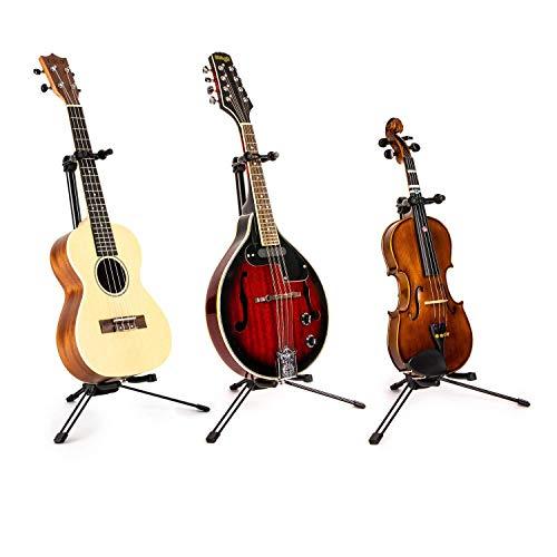 Tragbar, Zusammenklappbar Ukulele/Violine stehen, mit Nackenstütze–Heavy Duty
