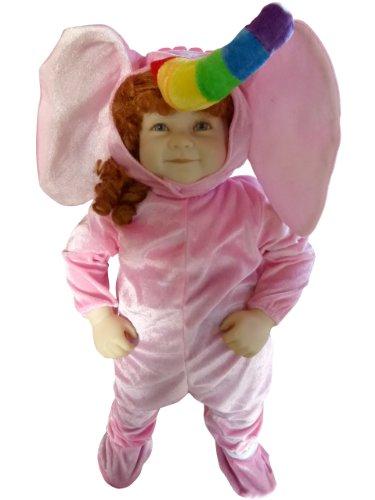 F86 Taglia 12-18M (80-86cm) Costume da Elefante per bambini e neonati, indossabile comodamente sui vestiti normali