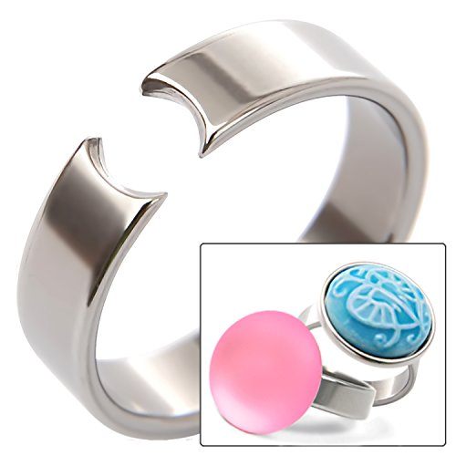 ring4u eleganter Edelstahl Ring zum Aufstecken von NOOSA Amsterdam Chunks Gr. 50
