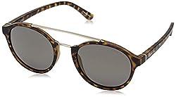 IDEE Mirrored Round Unisex Sunglasses - (IDS2365C3PSG|52|Gold Mirror-Smoke Color)