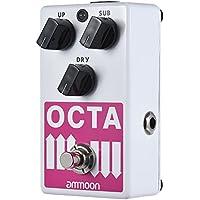 ammoon Pedal de Efectos OCTA Generador de Octava Guitarra Eléctrica Polifónico Preciso Compatible con SUB / UP Octave y Señal Seca Carcasa Metálica Completa con True Bypass