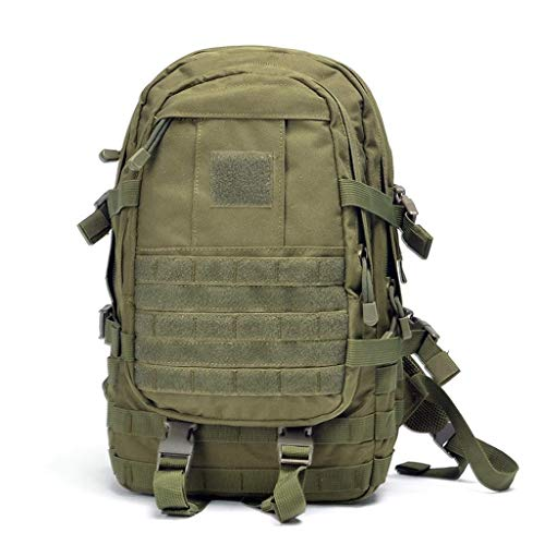 JOLLY Outdoor Bergsteigen Tasche Armee Fan Einheit Taktische Angriff Tasche Wasserdichte Outdoor Bergsteigen Wandern Rucksack 35L Unisex (Farbe : Grün)