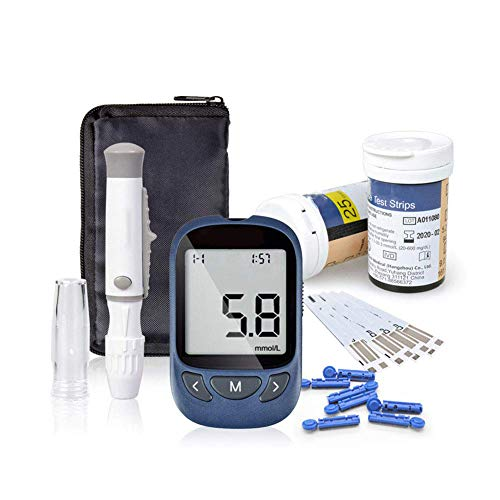 Glucosa en sangre kit de control de la diabetes kit de prueba de azúcar en sangre kit Codefree Pack 50 tiras para diabéticos