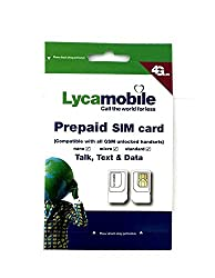 Lycamobile USA simcard Unlimited Plan 03 - Unlimited 4G Data (Truely Unlimited)