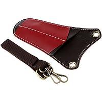 MagiDeal Multifuncional Bolsa de Tijera de Material de PU de Alto Grado Portátil Uso para Peluqueros - Rojo marrón