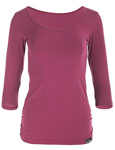 T-shirt 3/4 Arm (Winshape Damen Fitness Yoga Pilates 3/4-Arm Shirt WS4, Berry Love, S)