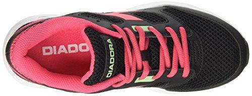 Diadora Shape 7, Scarpe da Corsa Unisex – Adulto Nero (Nero/Rosa Brillante)