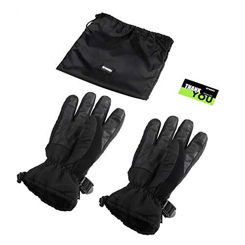 enkeeo guanti da sci  ENKEEO Guanti da Sci Guanti per Sport Invernali Impermeabile ...