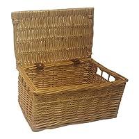 Buff Willow Wicker Storage Chests/Lids/Baskets/Crafts/Trunk/Hamper