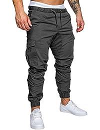 Homme Pantalon Casual Cargo Chino Jeans Sport Jogging Slim Fit Pantalon Coton