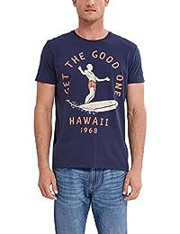 Esprit 047ee2k014-Print, T-Shirt Homme