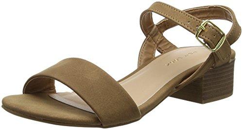 New Look Origano Sandali punta aperta donna, Brown (Tan 18), 37     EU (4 UK)