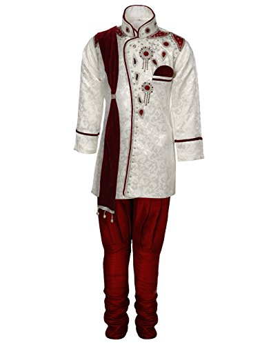 AJ Dezines kids festive and party wear Sherwani for boys (D_9045_CREAM_1)