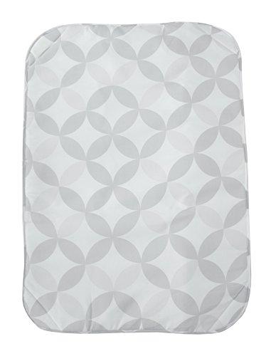 ZOLLNER® Bügeltischauflage / Bügeldecke / Tischbügeldecke / Auflage zum Bügeln mit Antirutschnoppen und Magneten in jeder Ecke, ca. 71x100cm, creme mit grauem Muster, 100% Baumwolle, Serie