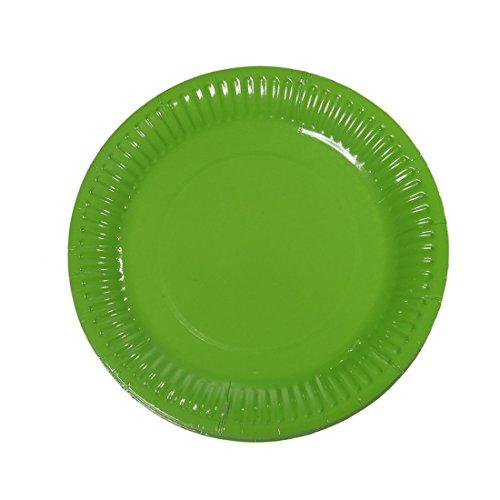 Meowoo grandi piatti di carta verdi 100 pcs – 18 cm qualità durevole piatti ideale per festa, natale,matrimonio, compleanno