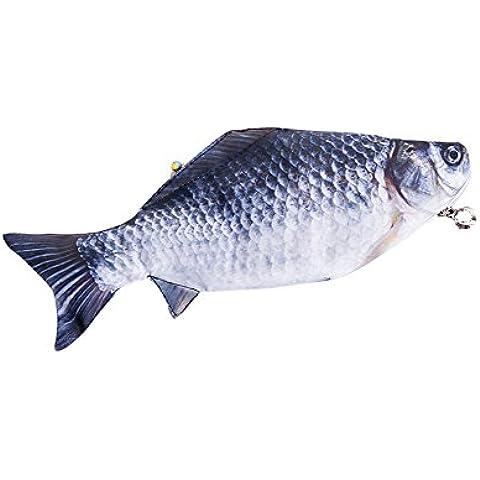 SAMGU Forma de pez creativas bolsas de lápiz caja de lápiz
