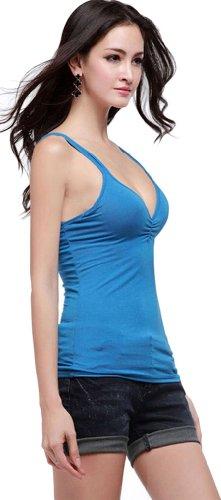 ADS - Débardeur -  - Sans manche Femme Bleu - Bleu