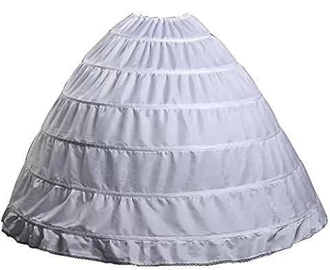 Wantdo Cordon Mariage Nuptiale Petticoat 6 Cerceaux Grande Pleine Blanc Une Taille Blanc One Size