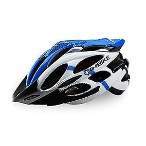 MEEX INBIKE Series - Casco de Ciclismo Profesional con Visera Solar Desmontable 829, Color Amarillo, Tamaño Azul