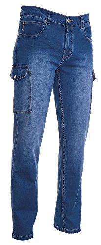 Pantalone Jeans Uomo in Denim Elasticizzato Délavé Con Cinque Tasche e Tasche Laterali Passanti in Vita Payper Hummer Light Blue