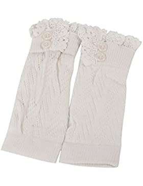 Saingace Kinder Baby Häkeln Strick Lace Stiefel Stulpen Toppers Bein Wärmer Socken