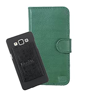 DooDa Genuine Leather Wallet Flip Case Cover With Card & ID Slots For Videocon Infinium Z51 Nova+ - Back Cover Not Included Peel And Paste