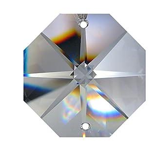 70x Regenbogenkristall Octagon Stern ~ Koppe 14mm 2 Loch Crystal K9 ~ Feng Shui Kronleuchter Lüster (14mm)