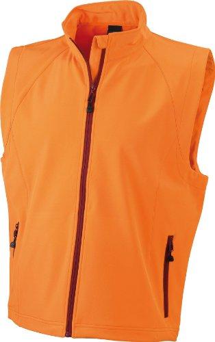James & Nicholson - Gilè da uomo, in tessuto Soft Shell Arancione (orange)