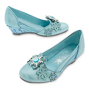 Chaussures de déguisement pour enfants Elsa de La Reine des Neiges Taille UK 11 - 12 / EU 29-31