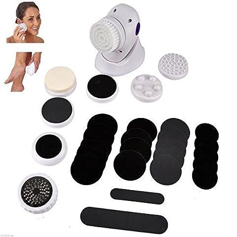 ViVo © 30pc Pedicure Menicure Spa Massager Ped Pod Egg Foot Care Hard Dry Skin Remover Kit Pamper