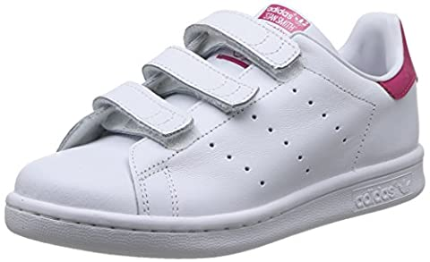 adidas Stan Smith, Sneakers Basses fille, Blanc (Ftwr White/Ftwr White/Bold Pink), 30 EU (UK child 11.5 Enfant UK)