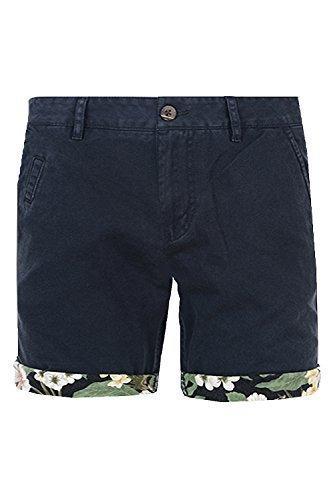 uomo-pantaloni-corti-d-struct-nuovo-casual-motivo-hawaiano-orlo-estate-cotone-chino-navy-vita-34