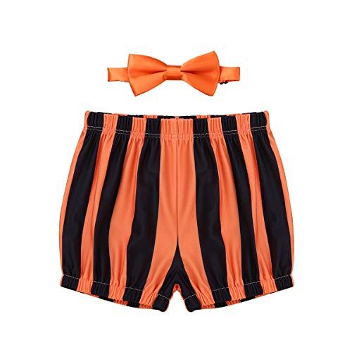 5838f43c35b00 YiZYiF Bébé Garçon Costumes de Baptême Bloomer à Rayures Short 1er  Anniversaire Pantalon Court Caleçon Cérémonie