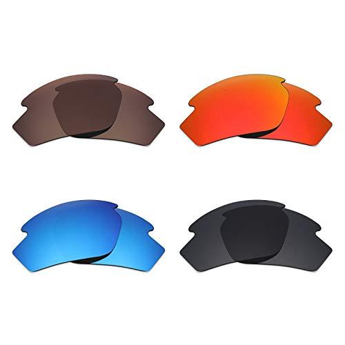 Mryok polarisierte Ersatzgläser für Rudy Project Rydon Sonnenbrille - Stealth Black/Fire Red/Ice Blue/Bronze Braun, 4 Paar