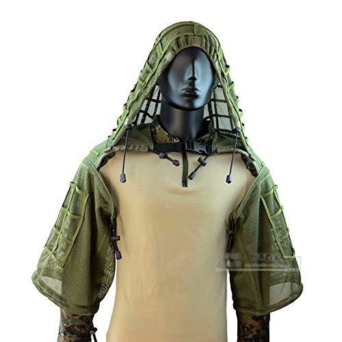 WEIFAN Ghillie Geely Bekleidungsweste, super atmungsaktiv, Sniper Tog Ghillie Anzüge, COS Full Mesh Nylon Atmungsaktive Camouflage Kleidung