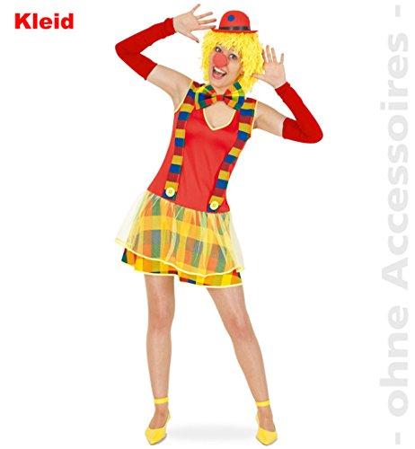 Clown Weiblich Kostüm - Damen-Kostüm