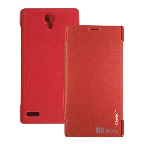 Casotec Premium Flip Case Cover for Xiaomi Redmi Note - Red  available at amazon for Rs.165
