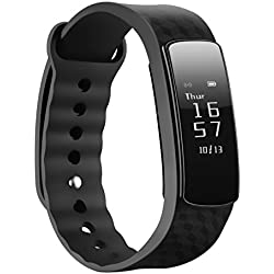 Braccialetto Intelligente, Mpow Bluetooth 4.0 IP67 Smart Bracciale Fitness Salute Tracker attività Wristband con Pedometro /Sonno Monitoraggio / Monitoraggio Calorie / Activity Tracker Compatibile per Android e iOS Smartphone, Nero