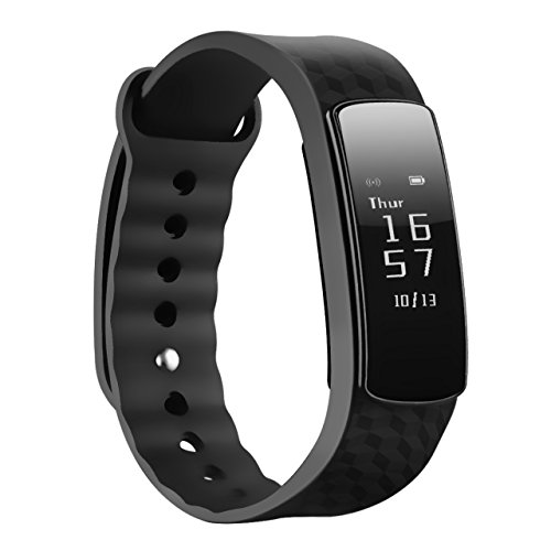 Smart Bracelet, Mpow Smart Fitness Tracker Sports Pedometer Wristband Sleep Monitor Touch Screen Activity Tracker Waterproof Smartwatch for Android and iOS Smart Phones Such as iPhone 7 7 Plus 6s 5 5S SE, Huawei, LG, Sony, Black